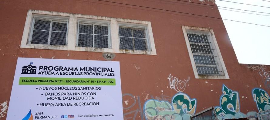 Avanzan las obras de refacción de la Escuela Provincial N° 21