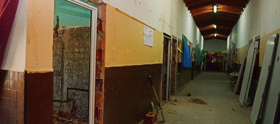 Avanzan las obras en la Escuela Nº3