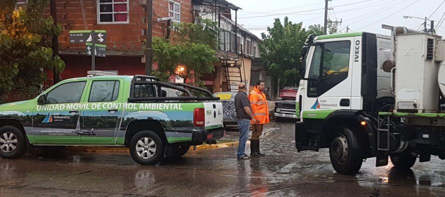 Operativo en nuestra ciudad frente al fuerte temporal