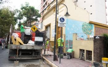 Nuevas veredas y rampa de acceso en el Centro de Día 'Senderos de San Fernando'