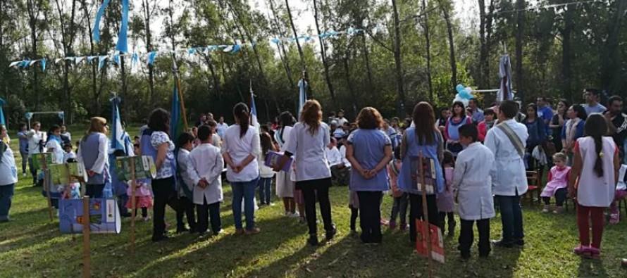 Las escuelas del Delta celebraron el Día de la Patria en Arroyo Las Cañas