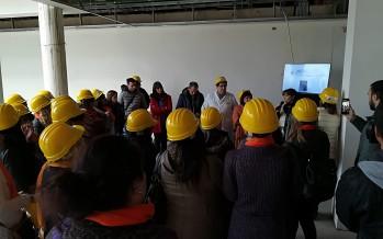 """Pimpi Colombo visitó las instalaciones del futuro Hospital Municipal: """"Tenemos el desafío de trabajar en conjunto por la salud"""""""
