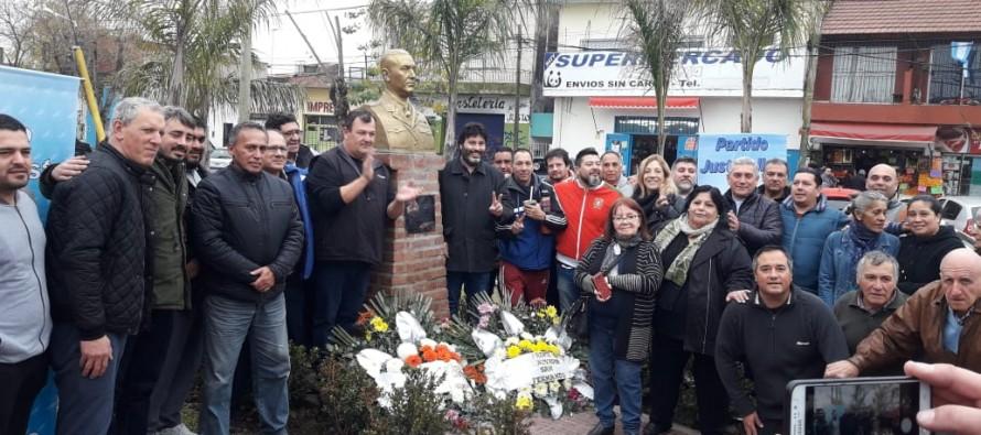 Acto homenaje a Perón en Avellaneda y Arnoldi al cumplirse el 44° aniversario de su muerte