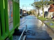 Tareas de limpieza en el barrio Alvear y zonas aledañas al Poli N°3 afectadas por la sudestada