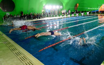 El Poli N°8 fue escenario de un encuentro competitivo de natación