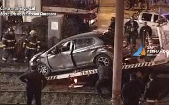 El Tren de la Costa embistió a un automovilista en Lanusse y Arias