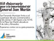 Acto por el 17 de agosto en Plaza San Martín