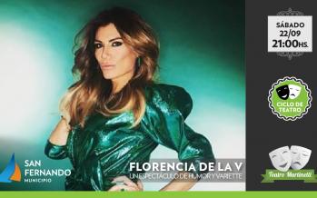 Flor de la V trae su nuevo stand up al Teatro Martinelli