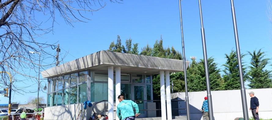 Última etapa de la construcción de la nueva posta policial en Villa Jardín
