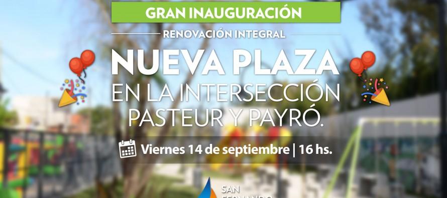 Nueva plaza en en Pasteur y Payró