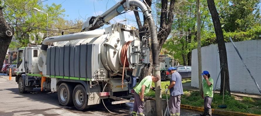 Se realizaron obras de limpieza preventiva ante el alerta climática emitida por el SMN
