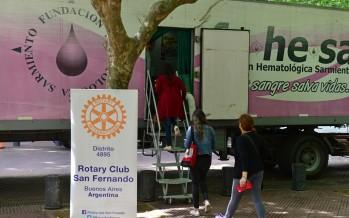 Se llevó a cabo la jornada 'Donar Sangre Salva Vidas' en Plaza Mitre