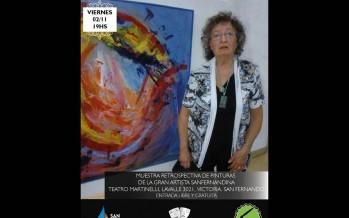 Homenaje a la artista Angela Damnotti en el Teatro Martinelli