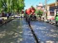 Obras de mejoramiento del espacio público en Blanco Encalada entre Colectora Reguera y Quintana