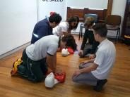 Se realizó un taller de RCP para alumnos del Colegio San Fernando