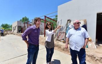 Avanza el nuevo Centro de Servicios y Espacios Públicos ubicado en Maipú y Alcorta