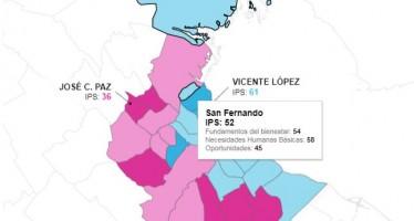 ¿Qué lugar ocupa San Fernando en el Índice de Progreso Social?