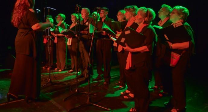 Se realizó en el Teatro Martinelli la muestra anual de los talleres culturales municipales