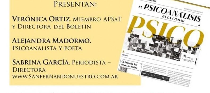 """El viernes se presenta el boletín """"El psicoanálisis en la ciudad"""""""