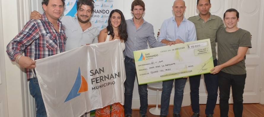 Subsidio al grupo coral 'La Fortunata' que competirá en el pre Cosquín 2019