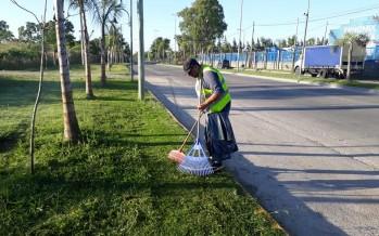 Tareas de mantenimiento y limpieza en Ruta 202 y en Avenida Avellaneda