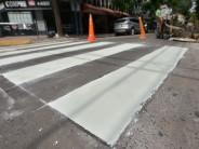 Trabajos de pintura vial en el casco histórico de nuestra ciudad