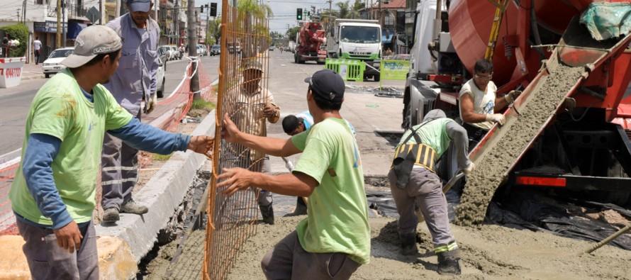 Avanza la renovación de la Avenida Avellaneda