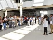 El personal que integrará el Hospital Municipal recorrió las nuevas instalaciones