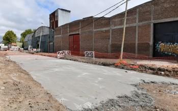 Avanza la obra de la calle Rivadavia hacia el río