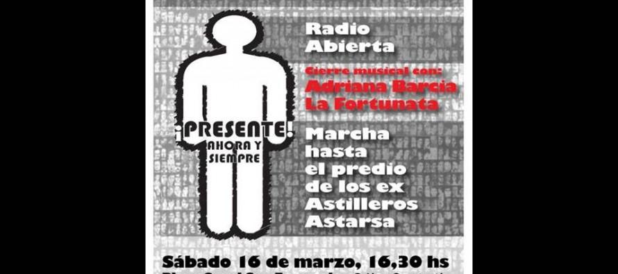 Acto por la Memoria en Plaza Canal a 43 años del golpe de Estado