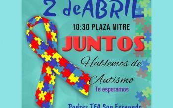 Actividad de concientización en el Día Mundial del Autismo en Plaza Mitre