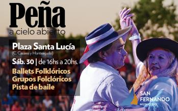 Este sábado se realizará una peña folclórica en plaza Santa Lucía