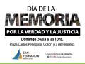 El domingo se conmemorará el Día de la Memoria, la Verdad y la Justicia en la Plaza Carlos Pellegrini