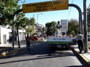 Nuevo cartel delimitador de alturas máximas en Villa Jardín