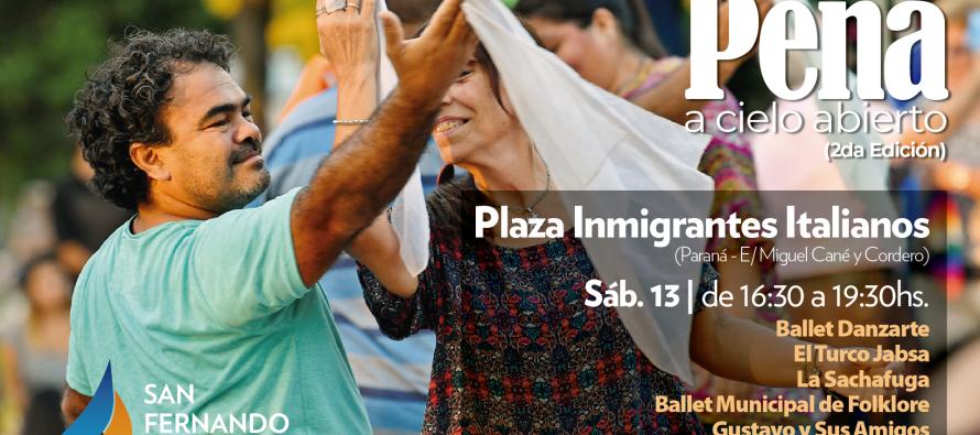 Se viene la segunda Peña a Cielo Abierto en la Plaza Inmigrantes Italianos