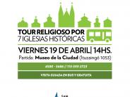 Este viernes se conmemora Semana Santa con una visita a 7 iglesias históricas de nuestra ciudad