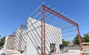 Avanza la construcción del nuevo Centro de Servicios y Obras Públicas en Maipú y Alcorta