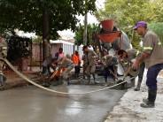 Pavimentación y construcción de conductos pluviales en la calle Belgrano
