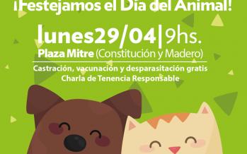 El Día del Animal se celebrará en Plaza Mitre con un operativo de zoonosis