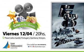 Cine en los barrios: 'Rápidos y Furiosos 8' se proyectará gratis en la Plaza Carlos Gardel