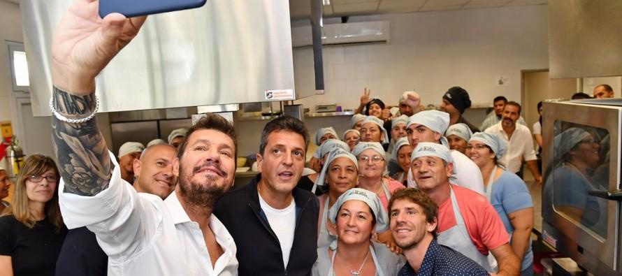 Marcelo Tinelli y Sergio Massa visitaron la Escuela Municipal de Oficios junto a Juan Andreotti