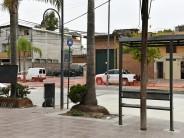 Renovación de veredas en la intersección de Ruta 202 y Avellaneda