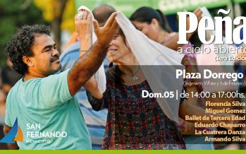 Se viene la Peña a Cielo Abierto en plaza Dorrego
