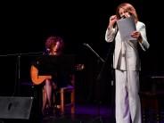 Leonor Benedetto se presentó en el Teatro Martinelli con ´Atentamente´