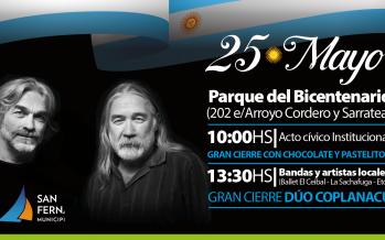 El Dúo Coplanacu se presenta en el Parque del Bicentenario para celebrar el 25 de Mayo