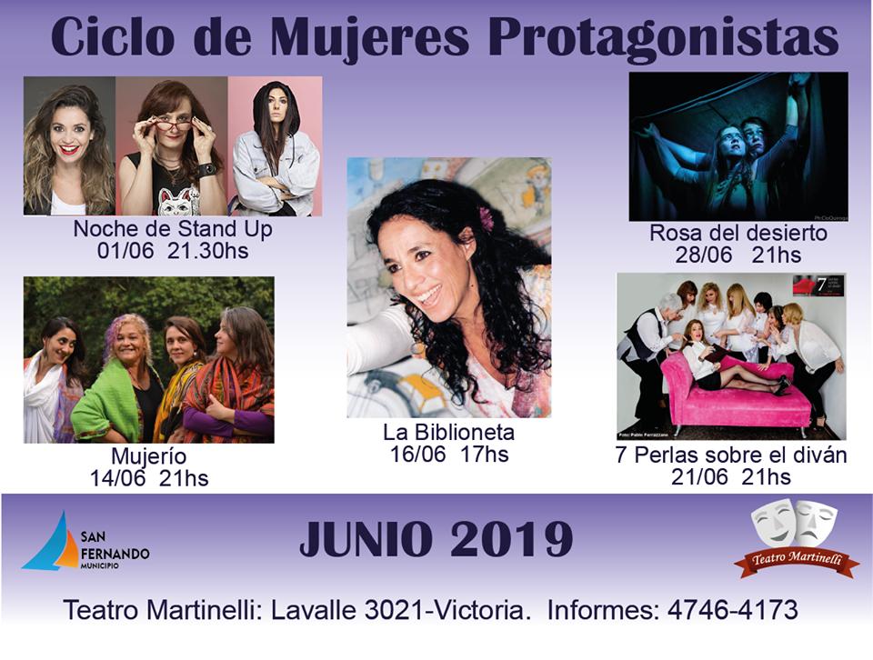 Cartelera junio 2019 Martinelli