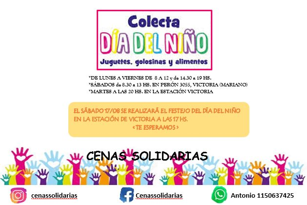 Cenas Solidarias Día del niño