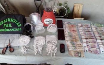 Detuvieron a nueve personas del barrio San Jorge con armas, dinero y droga