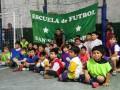El Chino Luna visitó la Escuela de Fútbol del San Fernando Juniors