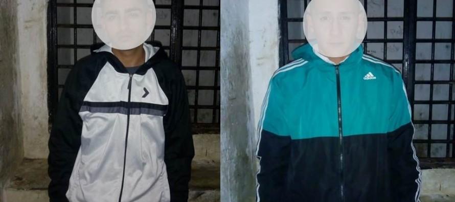 Payró y Quintana: dos jóvenes fueron detenidos tras robarle las zapatillas a un hombre con un arma blanca